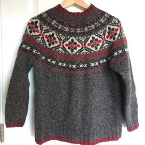 Vintage petite size wool sweater Eddie Bauer